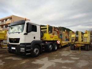 Photo des camions de transports ARNAUD